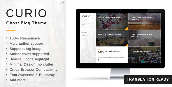 Curio - Responsive Minimal Ghost Theme - Ghost Themes Blogging