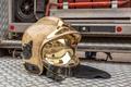 Modern Golden Fire Brigade Helmet - PhotoDune Item for Sale