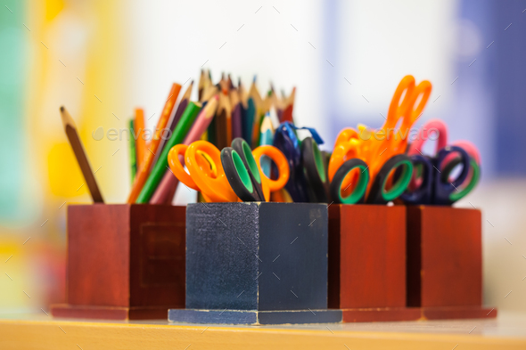 College equipment in a Classroom - Stock Photo - Images