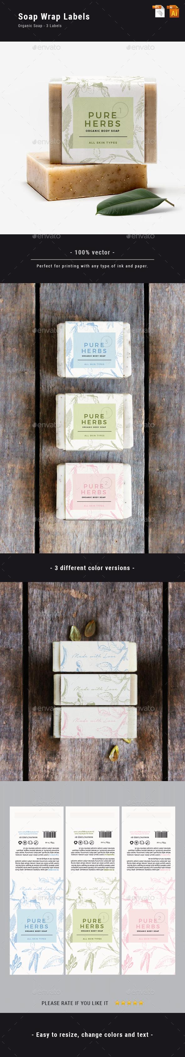 Organic Soap Label - Packaging Print Templates