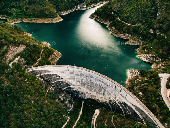 Valvestino Dam in Italy. Hydroelectric power plant. - Stock Photo - Images