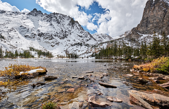 Lake Helene, Rocky Mountains, Colorado, USA. - Stock Photo - Images