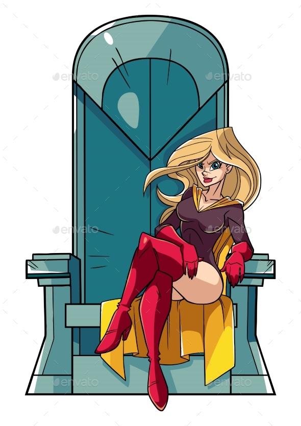 Superheroine on Throne - People Characters