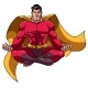 Superhero Meditating Illustration - GraphicRiver Item for Sale