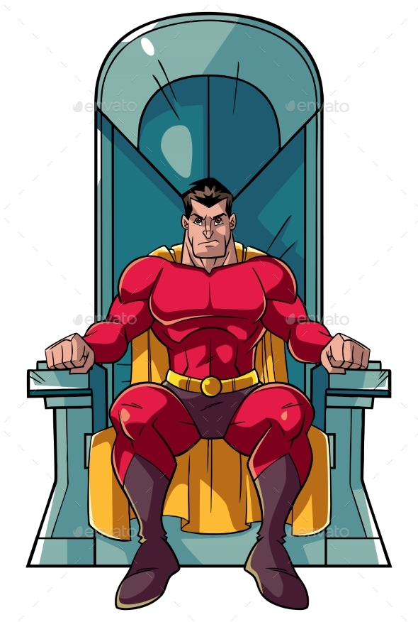 Superhero on Throne - People Characters