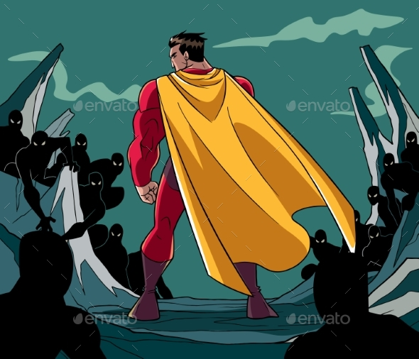 Superhero Ready for Battle - People Characters