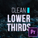 Clean Lower Thirds for Premiere - VideoHive Item for Sale