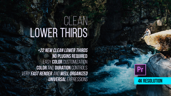Videohive Clean Lower Thirds for Premiere 21731346