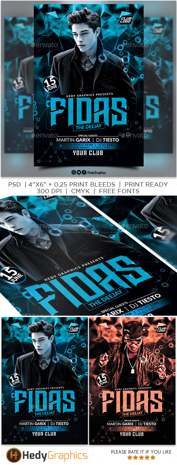 Guest Artist Flyer - Clubs & Parties Events