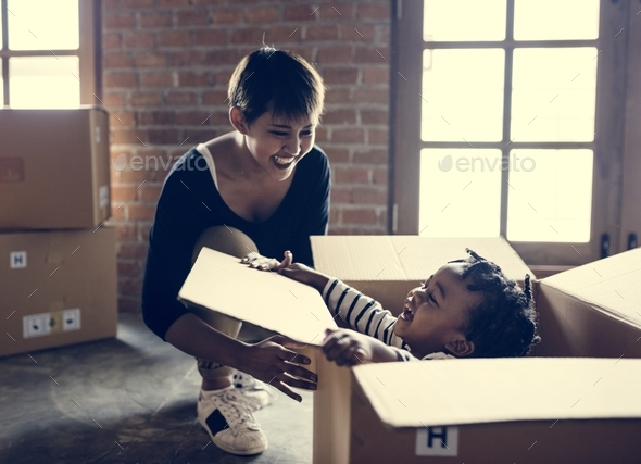 Mother with her kid - Stock Photo - Images