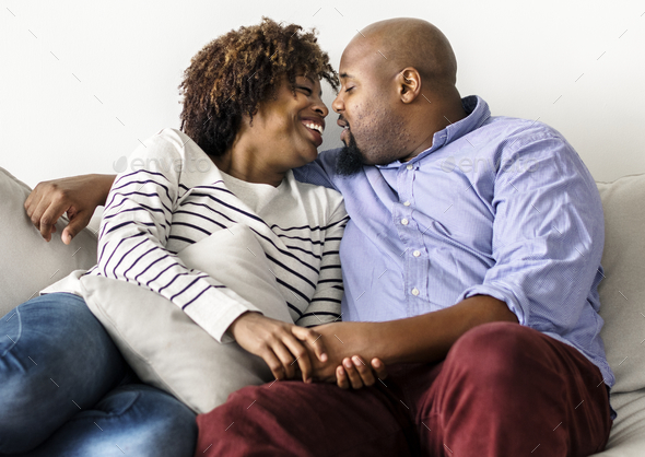 Couple having a romantic and happy time together - Stock Photo - Images