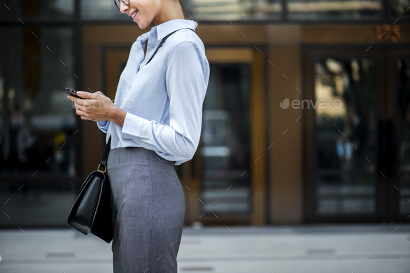 A cheerful white woman concept - Stock Photo - Images