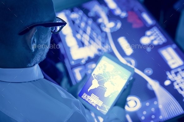 Futuristic global business - Stock Photo - Images