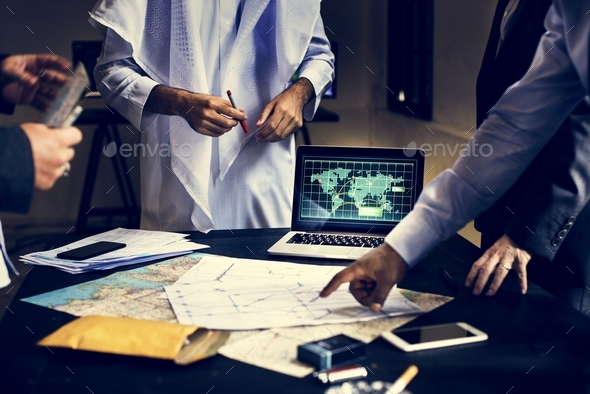 Diverse people business meeting shoot - Stock Photo - Images