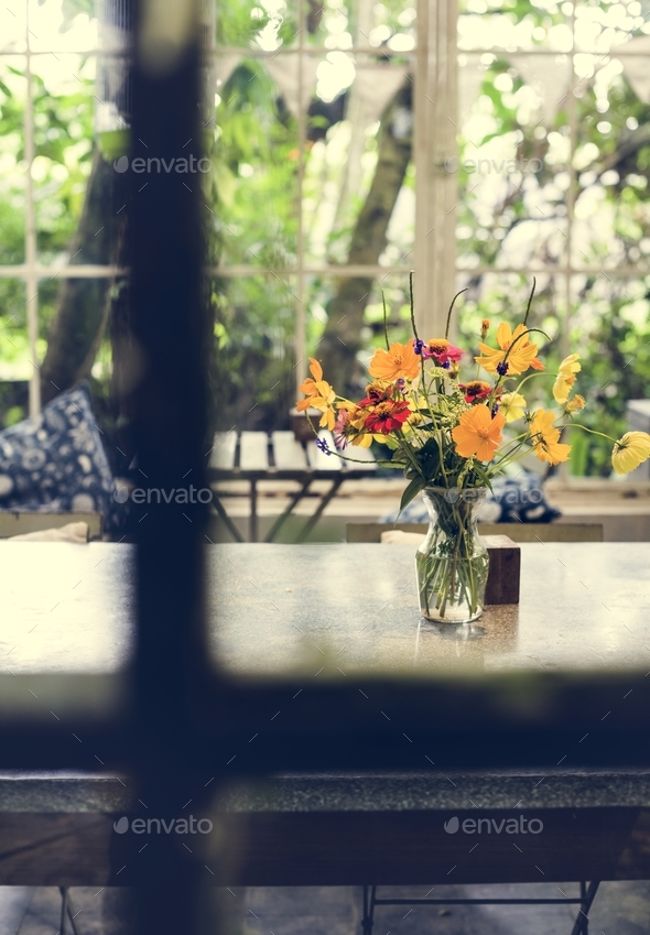 Relaxing cafe shop - Stock Photo - Images