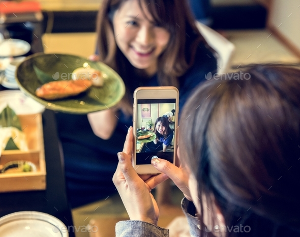 Japanese dining lifestyle eating - Stock Photo - Images