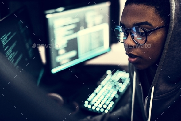 Hacker data system hacking - Stock Photo - Images
