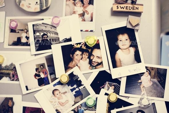 Family photos - Stock Photo - Images