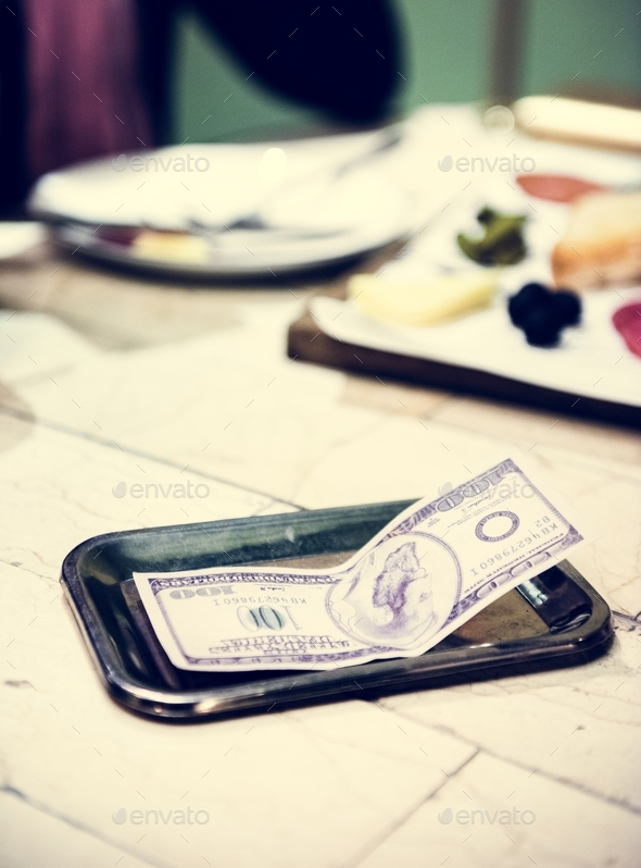 Tip on the dining table - Stock Photo - Images