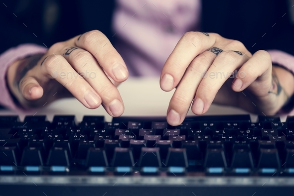 Business person typing - Stock Photo - Images