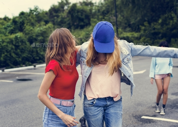Women having fun together - Stock Photo - Images
