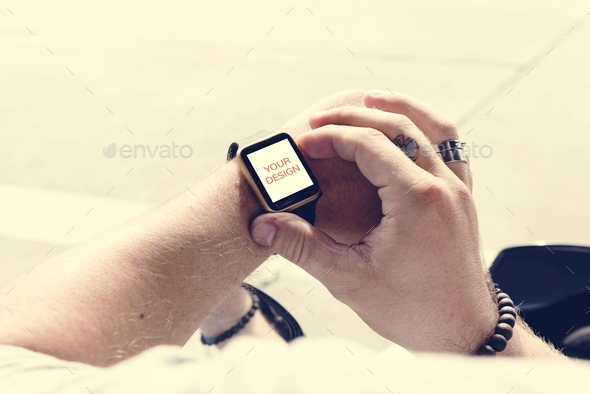 Digital wrist watch - Stock Photo - Images