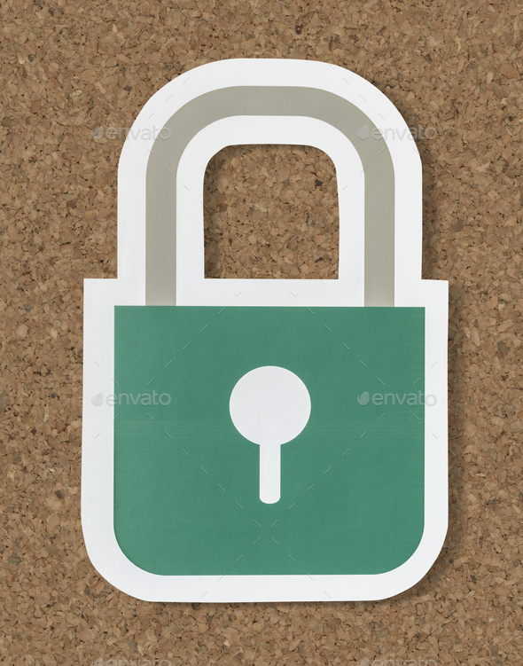 Privacy safety security lock icon - Stock Photo - Images