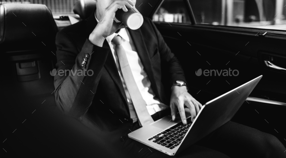 Business people drinking some beverage - Stock Photo - Images