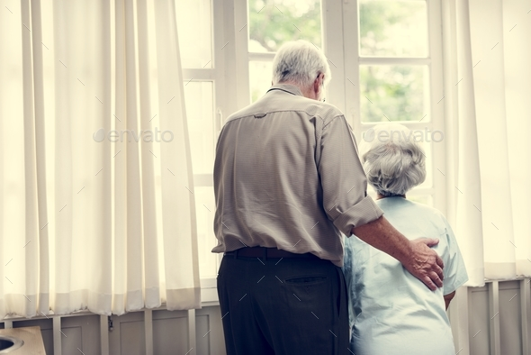 Old couple in a hospital - Stock Photo - Images