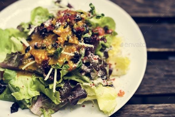 Closeup of salad dish - Stock Photo - Images
