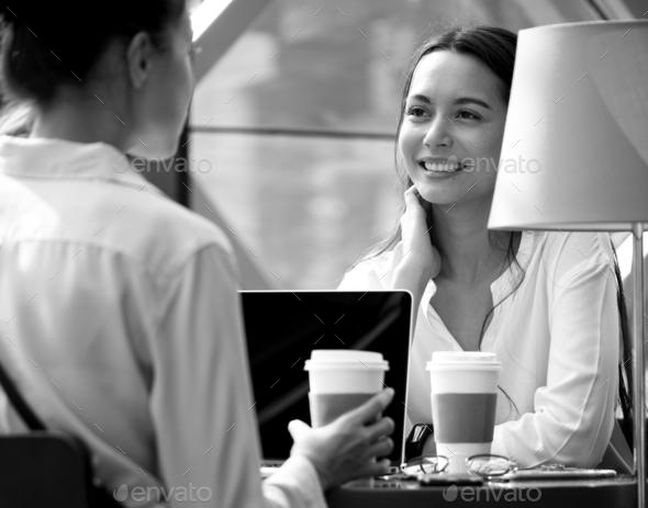 Woman enjoy morning coffee - Stock Photo - Images