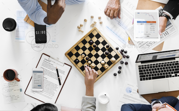 Chess game business strategy concept - Stock Photo - Images