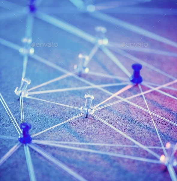 Internet network connecting system simulated - Stock Photo - Images