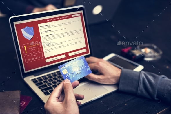 Firewall popup for security cybercrime protection - Stock Photo - Images