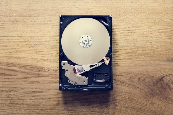 Hard disk drive archive data backup - Stock Photo - Images