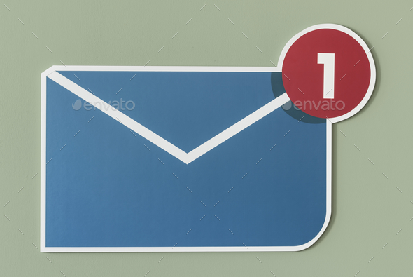 New incoming message email icon - Stock Photo - Images