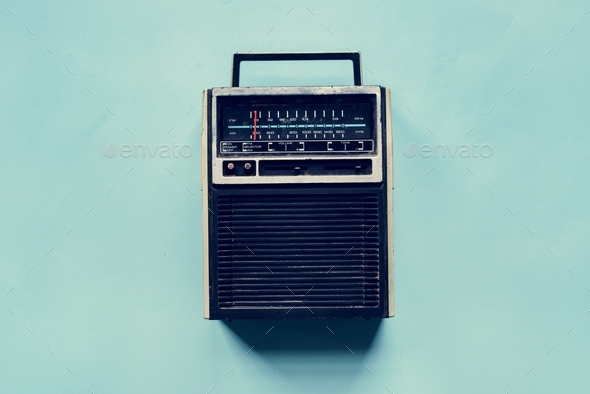 Radio receiver broadcast channel vintage tuner - Stock Photo - Images
