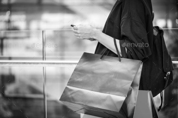 Woman enjoy shopping concept - Stock Photo - Images