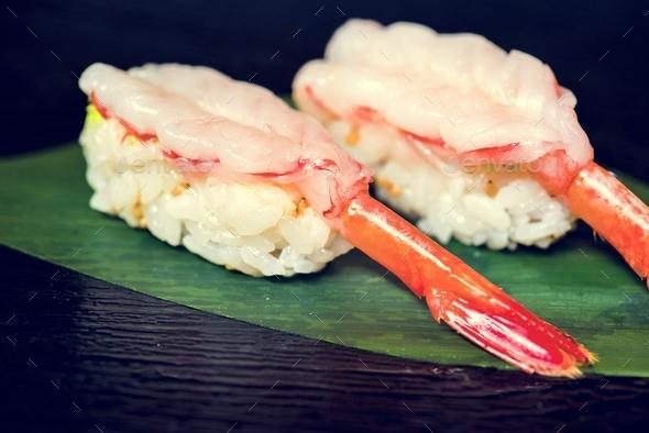 Ebi sushi japanese food healthy - Stock Photo - Images