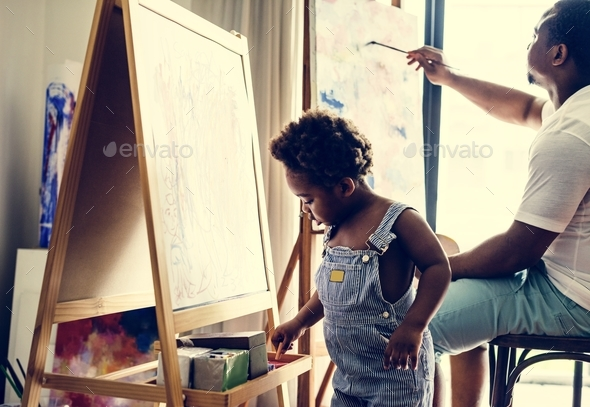 Artist family - Stock Photo - Images