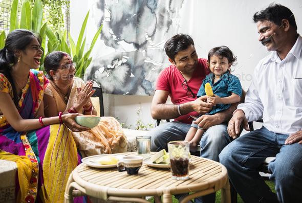 A happy Indian family - Stock Photo - Images