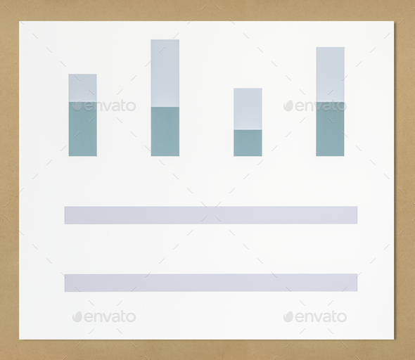 Business data analysis bar chart icon - Stock Photo - Images