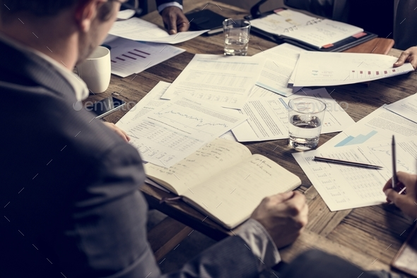 People in business meeting with crisis situation - Stock Photo - Images