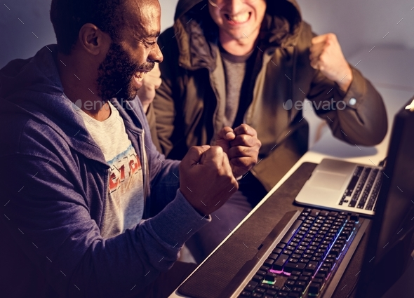 Hacker team success hacking identity information on the internet - Stock Photo - Images