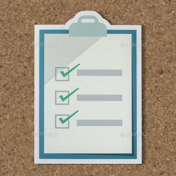 Cut out paper checklist icon - Stock Photo - Images