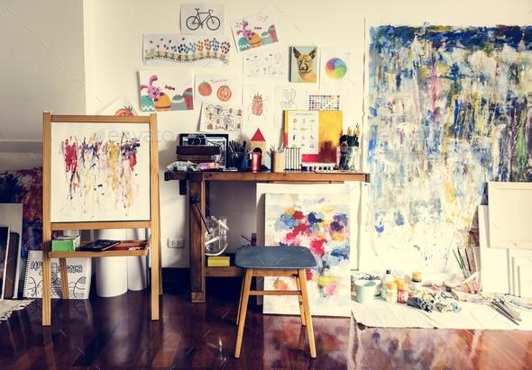 Artist artworks - Stock Photo - Images