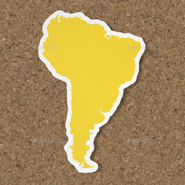 Blank map of South America - Stock Photo - Images
