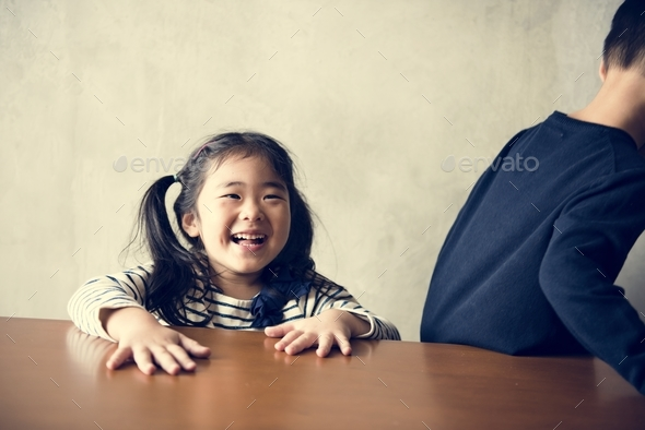 Cheerful japanese girl - Stock Photo - Images