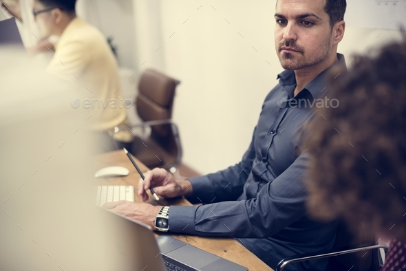 diverse business people working - Stock Photo - Images
