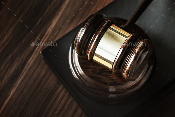 Closeup of gavel judgement concept - Stock Photo - Images